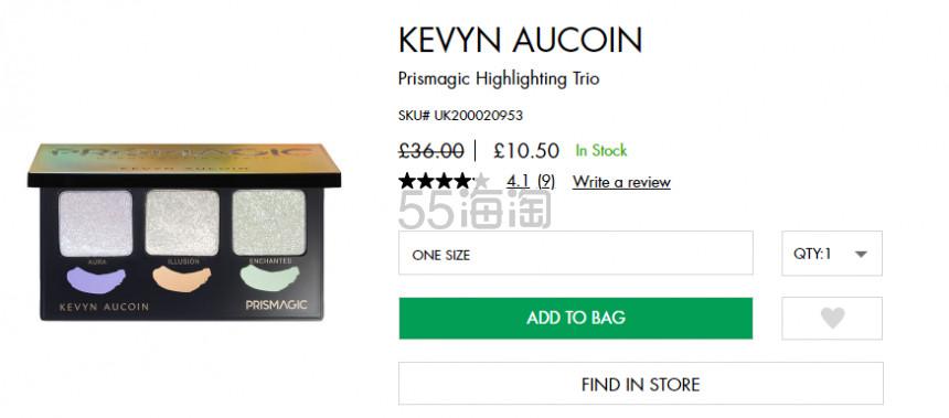 再降价! KEVYN AUCOIN 三色偏光高光盘 £10.5(约91元) - 海淘优惠海淘折扣|55海淘网