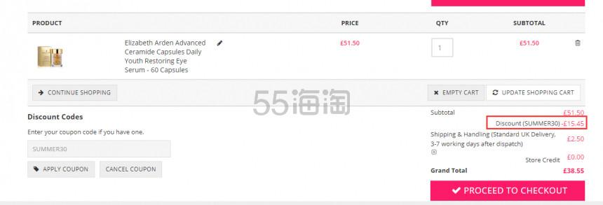 Elizabeth Arden  雅顿升级版金致胶囊精华液 60粒 £36.05(约310元) - 海淘优惠海淘折扣|55海淘网