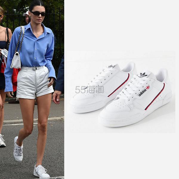 【Kendall同款】低至8.7折!adidas 阿迪达斯 Continental 80 Sneaker 运动鞋 (约482元) - 海淘优惠海淘折扣|55海淘网