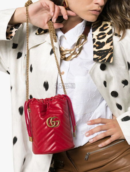 Gucci Red Marmont 红色水桶包