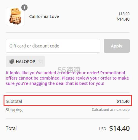 Colourpop 16色眼影盘 CALIFORNIA LOVE .4(约99元) - 海淘优惠海淘折扣|55海淘网