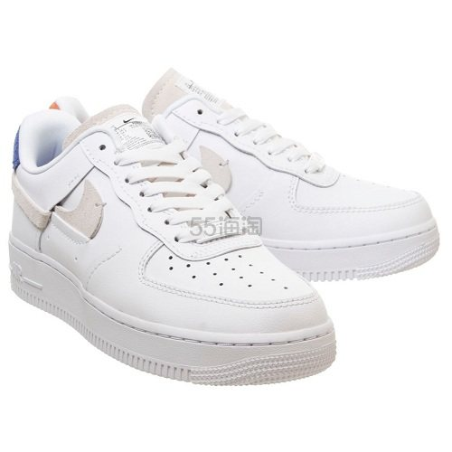 Nike 耐克 Air Force 1 07 空军1号 橙蓝配色鸳鸯鞋 £84.99(约731元) - 海淘优惠海淘折扣|55海淘网