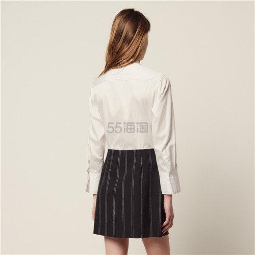 Sandro 假两件拼色衬衫连衣裙 7.5(约1,015元) - 海淘优惠海淘折扣|55海淘网