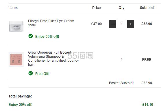7折!Filorga 菲洛嘉 时光逆龄眼霜 15ml £32.9(约283元) - 海淘优惠海淘折扣|55海淘网