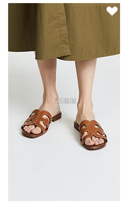 小码有货~Sam Edelman Bay Slides 女款棕色拖鞋 (约619元) - 海淘优惠海淘折扣|55海淘网