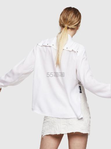 Diesel 双色纽扣装饰开叉衬衫 8(约1,224元) - 海淘优惠海淘折扣|55海淘网