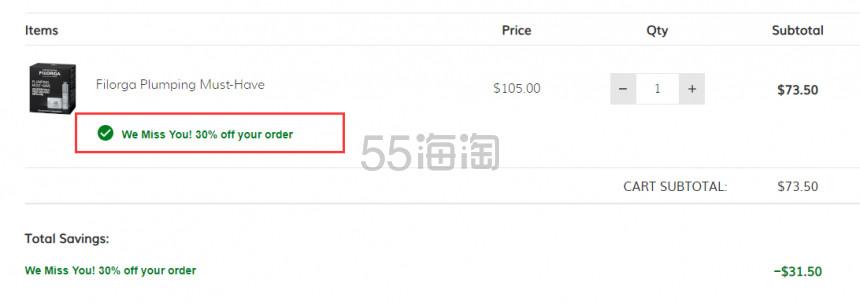 【限时高返】FILORGA 菲洛嘉 逆龄面霜+高保湿精华套组 .5(约507元) - 海淘优惠海淘折扣|55海淘网