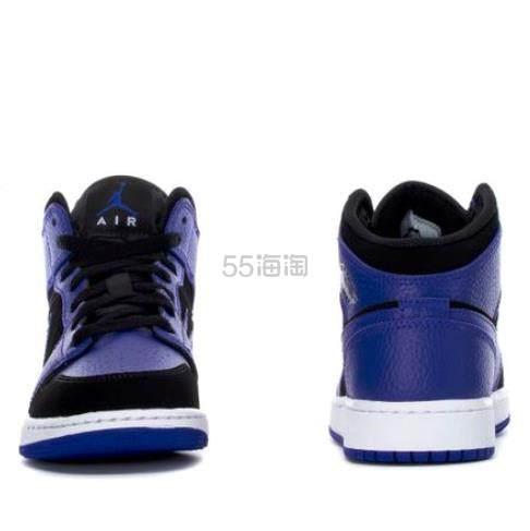 Air Jordan 乔丹 1 Mid 小黑紫 大童款篮球鞋 US7码 .98(约516元) - 海淘优惠海淘折扣 55海淘网
