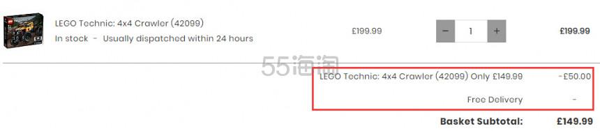 LEGO 科技机械组 4x4越野车 (42099) £149.99(约1,265元) - 海淘优惠海淘折扣|55海淘网