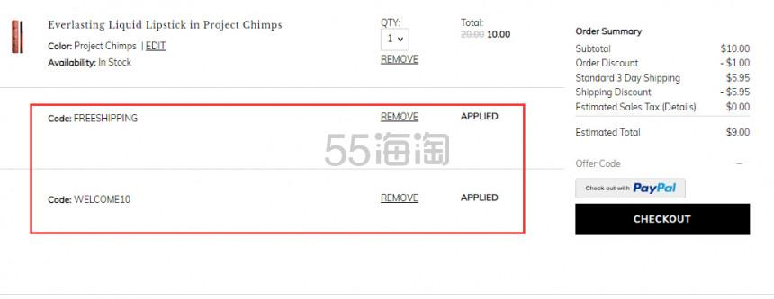 【单件免邮】Kat Von D 持久液体唇膏 Project Chimps 复刻版 (约63元) - 海淘优惠海淘折扣 55海淘网