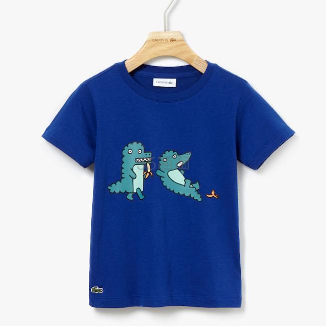 Lacoste Crew Neck Jersey T-shirt 男童印花T恤 .99(约191元) - 海淘优惠海淘折扣|55海淘网