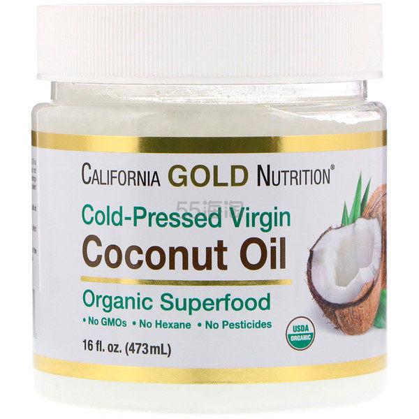 【爆款试用】California Gold Nutrition 有机初榨椰子油 473ml .26(约16元) - 海淘优惠海淘折扣|55海淘网