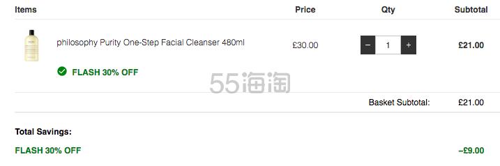 Philosophy 自然哲理 草本洁面乳 480ml £21(约178元) - 海淘优惠海淘折扣|55海淘网