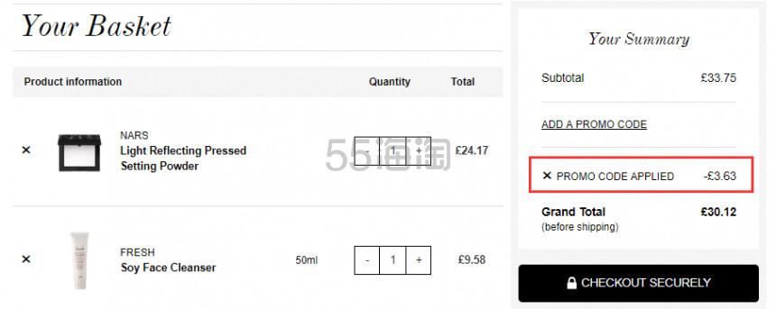 【售空】补货!NARS 裸光蜜粉饼 新版加量10g £20.54(约176元) - 海淘优惠海淘折扣|55海淘网