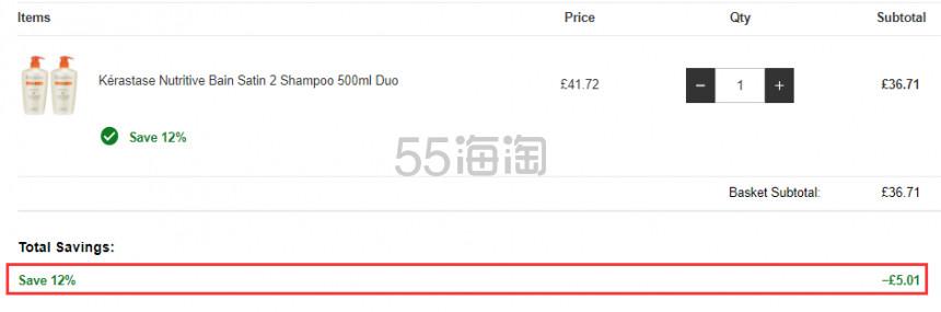 【55专享】Kérastase 卡诗 恒养滋护洗发水2号 500ml×2瓶 £36.71(约312元) - 海淘优惠海淘折扣|55海淘网