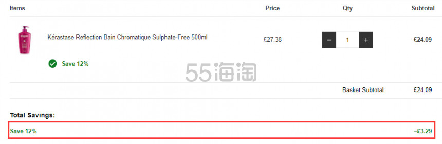 【55专享】Kérastase 卡诗 护色绚亮洗发水 500ml £24.09(约205元) - 海淘优惠海淘折扣|55海淘网