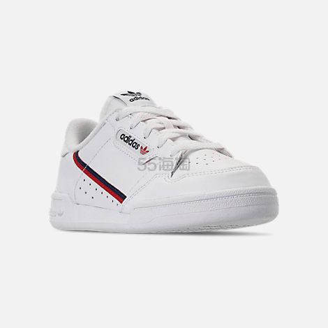 adidas Originals 三叶草 Continental 80 大童款板鞋 (约387元) - 海淘优惠海淘折扣|55海淘网