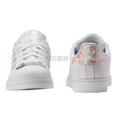 adidas Originals 三叶草 Superstar 大童款板鞋 粉镭射 .5(约263元) - 海淘优惠海淘折扣|55海淘网