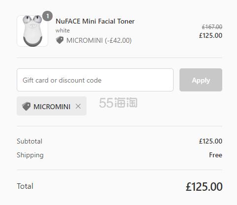 【可直邮】Nuface mini 家用提拉紧致美容仪 £125(约1,064元) - 海淘优惠海淘折扣|55海淘网