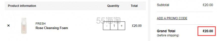 1瓶免费直邮!Fresh 馥蕾诗 玫瑰洁面泡沫 120ml £20(约171元) - 海淘优惠海淘折扣|55海淘网