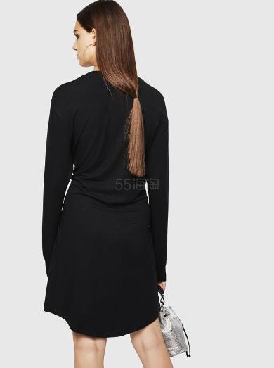 Diesel 圆环装饰收腰长袖卫衣裙 8(约1,748元) - 海淘优惠海淘折扣|55海淘网