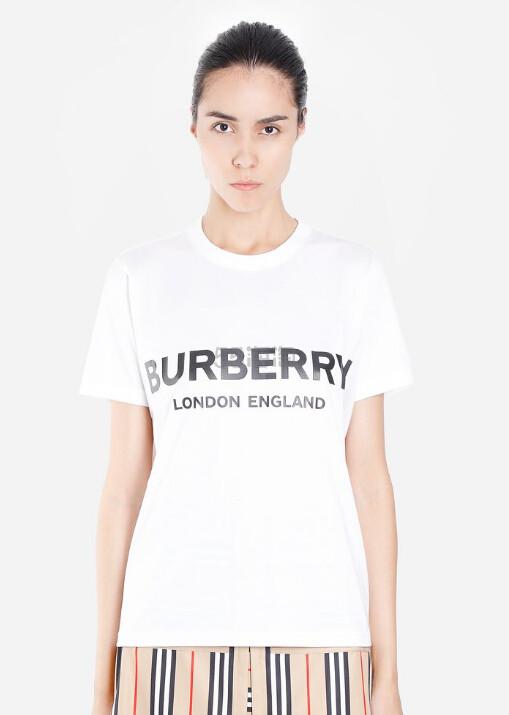 BURBERRY T-shirts 女士白色logoT恤衫 €238(约1,862元) - 海淘优惠海淘折扣|55海淘网