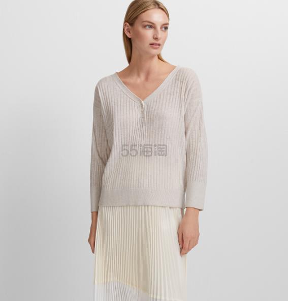 Club Monaco 基础 V 领羊绒针织衫 .4(约450元) - 海淘优惠海淘折扣|55海淘网