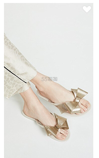 Melissa Harmonic 蝴蝶结夹趾凉鞋 .5(约272元) - 海淘优惠海淘折扣|55海淘网