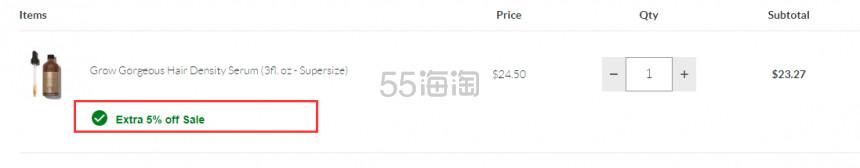 限时闪促!Grow Gorgeous  增发精华豪华装 90ml .27(约164元) - 海淘优惠海淘折扣|55海淘网