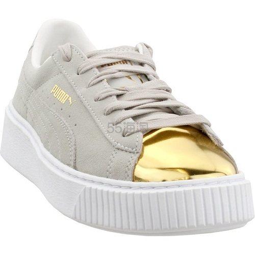 Puma 彪马 Suede 米灰色金属头休闲鞋 .95(约282元) - 海淘优惠海淘折扣|55海淘网