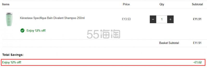 Kérastase 卡诗 无硅油双重功能头皮洗发水 250ml £11.91(约102元) - 海淘优惠海淘折扣|55海淘网