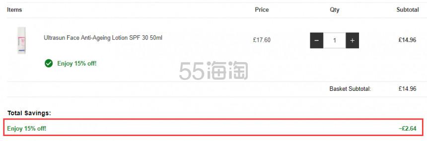 Lookfantastic:Ultrasun U+ 优佳 瑞士品牌防晒霜 8折+额外8.5折! - 海淘优惠海淘折扣|55海淘网