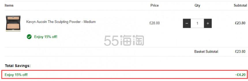 可直邮!Kevyn Aucoin KA 殿堂级修容侧影粉 色号全 £23.8(约207元) - 海淘优惠海淘折扣|55海淘网
