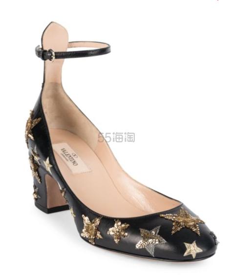 Valentino Garavani 星星装饰中跟凉鞋