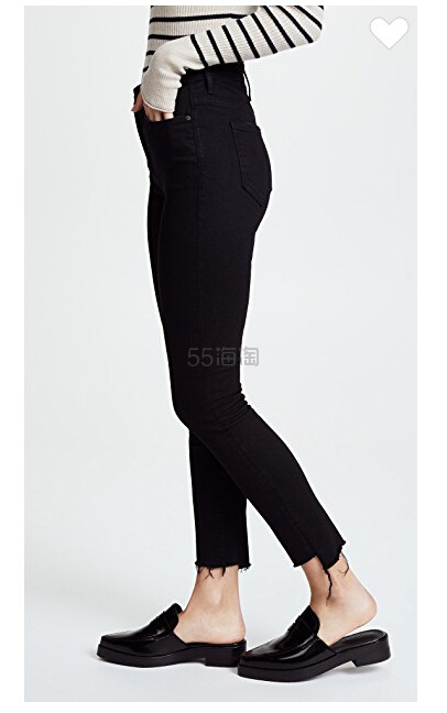 补货上架~MOTHER The Stunner 交叠裤脚九分牛仔裤 5(约1,468元) - 海淘优惠海淘折扣|55海淘网