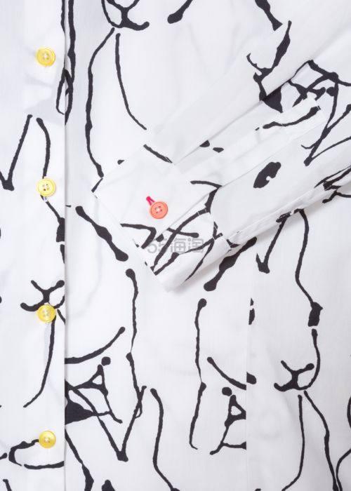 Paul Smith Ink Lucky 修身白色兔子印花衬衫 £160(约1,395元) - 海淘优惠海淘折扣 55海淘网