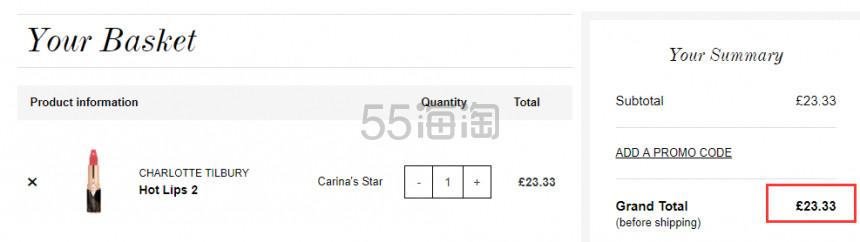 【补货】1支免费直邮!Charlotte Tilbury Hot Lips 2代 限量包装口红 Carinas Star £23.33(约205元) - 海淘优惠海淘折扣|55海淘网