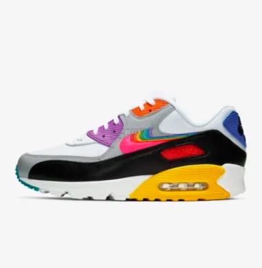【直降80元】一件免邮!Nike Gilbert Baker 联名款 Air Max 90 Betrue 彩虹款男女士运动鞋
