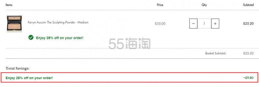 Kevyn Aucoin KA 殿堂级修容侧影粉 色号全 £25.2(约222元) - 海淘优惠海淘折扣 55海淘网