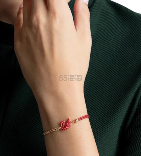【满£179享精美耳钉】Swarovski Iconic 限定红天鹅手链