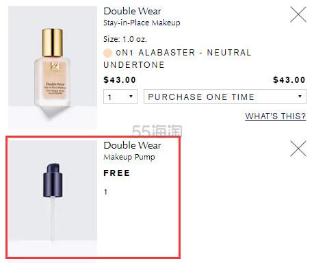 【送泵头】Estee Lauder 雅诗兰黛 Double Wear 持妆粉底液 (约306元) - 海淘优惠海淘折扣|55海淘网