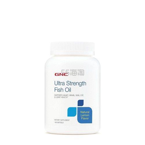 GNC 健安喜 高浓度鱼油 柠檬味 100粒 .56(约46元) - 海淘优惠海淘折扣|55海淘网