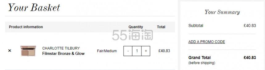 1件免费直邮!Charlotte Tilbury CT 双色高光修容盘 佛光盘 £40.83(约361元) - 海淘优惠海淘折扣|55海淘网