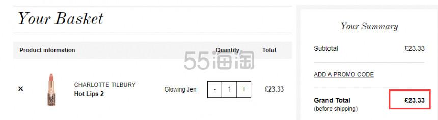 1支免费直邮!Charlotte Tilbury CT 限量唇膏 Glowing Jen £23.33(约205元) - 海淘优惠海淘折扣|55海淘网