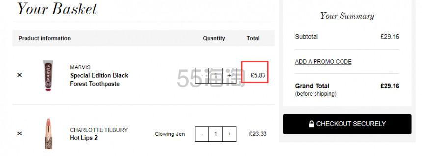 Marvis 限量黑森林 巧克力薄荷牙膏 75ml £5.85(约51元) - 海淘优惠海淘折扣 55海淘网