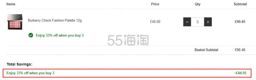 3件6.7折!Burberry 巴宝莉 2019春季限量 格纹修容腮红盘 £30.15(约266元) - 海淘优惠海淘折扣|55海淘网