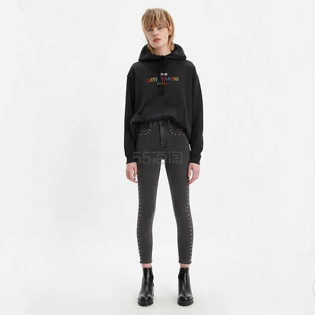 Levis Mile High Super Skinny 铆钉修饰修身牛仔裤 .99(约298元) - 海淘优惠海淘折扣 55海淘网