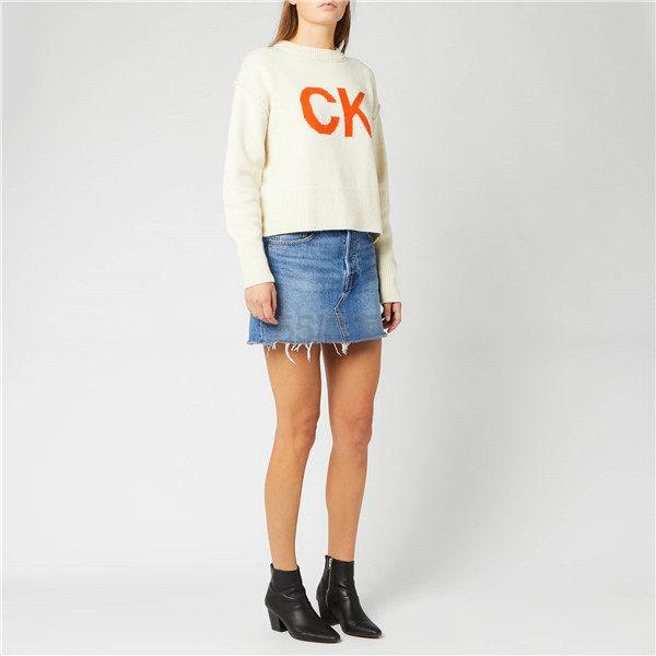Calvin Klein Jeans Logo 女士羊毛毛衣 ¥741.75 - 海淘优惠海淘折扣|55海淘网