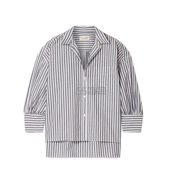 NILI LOTAN Lonnie 条纹纯棉府绸衬衫 £340(约2,997元) - 海淘优惠海淘折扣|55海淘网