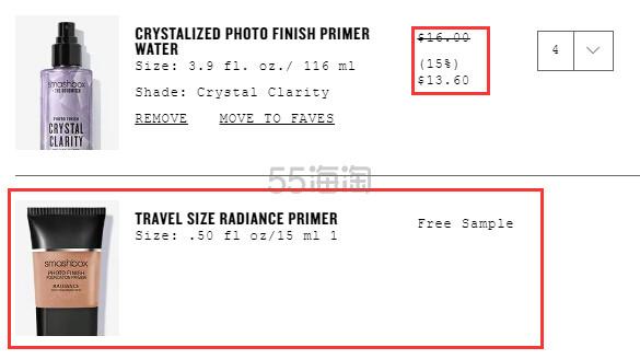 4.3折!Smashbox 限量款水晶定妆喷雾 116ml .6(约96元) - 海淘优惠海淘折扣|55海淘网
